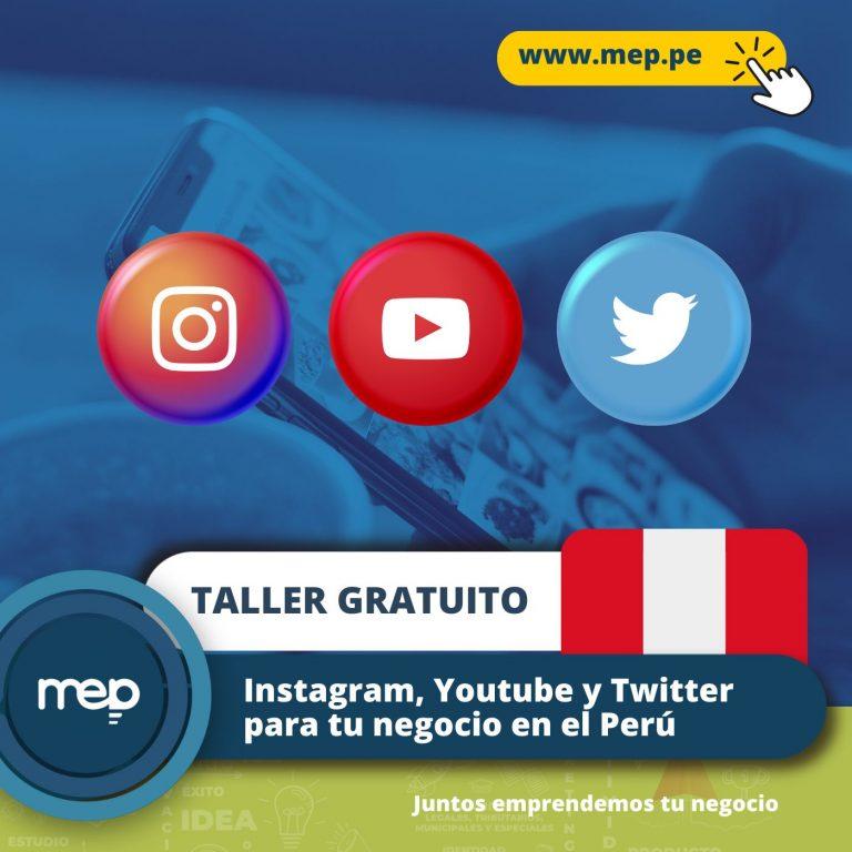 TALLER GRATUITO: Este Jueves 19 de Agosto «Instagram, Youtube y Twitter para Negocios» Inscríbete Ahora.