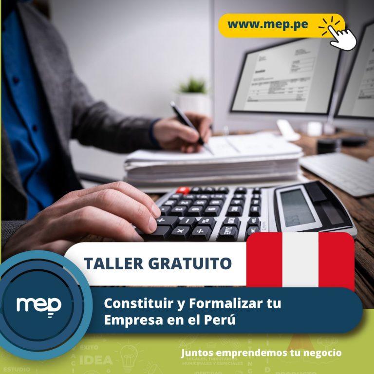 TALLER GRATUITO: Mañana, 27 de Julio «Tema: Constitución de tu Negocio». Participa Ahora.